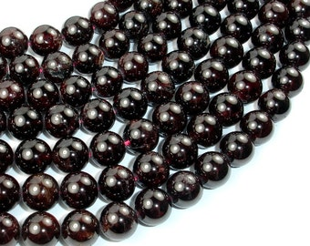 Red Garnet, 10mm(9.5mm) Round Beads, 15.5 Inch, Full strand, Approx 42 beads, Hole 1 mm (370054020)
