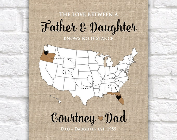 Featured listing image: Gift for Dad, Father, Grandpa - Custom, Gifts for Dad, Gift from Daughter, Son, Military Dad, Long Distance Family, Daddy