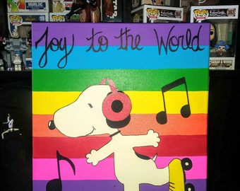 Joy To The World Snoopy Painting