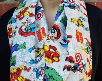 Marvel comics characters scarf