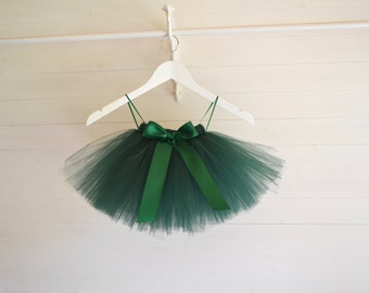 Hunter Green girls tutu, flower girl tutu, flower girl dress, tutu, baby tutu, tulle skirt, tutu skirt, flower girl dress, toddler tutu