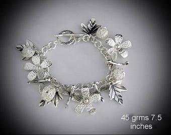 Karen Hill Tribe Charm Bracelet
