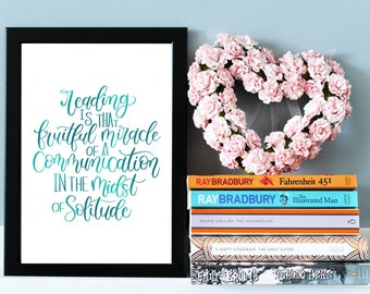 Marcel Proust Quote Print, Literary Print, Literary Gift, Literary Quote, Book Lover Gift, Literature Wall Art, Quote Wall Art