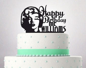 Bithday Cake Topper funny Marilyn Monroe Happy Birthday Mr President 084