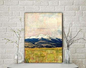 "Colorado Art 12x16"" Original Mixed Media Art, Mountain Photography, Mountain Painting, Crested Butte Art, mountain art, ""Kebler Pass I"""