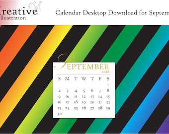 Digital Download: Desktop Calendar September 2018