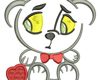 triste teddy bear   - Machine Embroidery Design