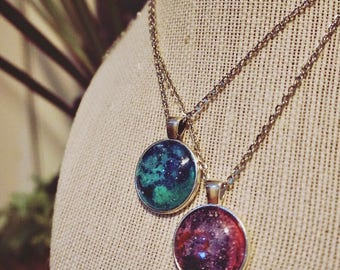 Hand-Painted Pendant Necklaces