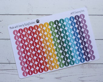 Cleaning Dot Stickers