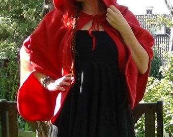 Red Riding Hood cape, medieval, carnival, cloak, gothic