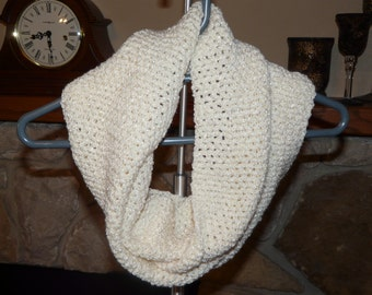 Sparkly Ivory Infinity Scarf FREE SHIPPING on 2nd Item to Same Address