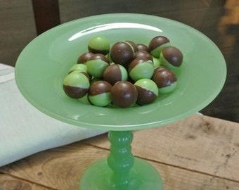 Jadeite Pedestal Candy Dish