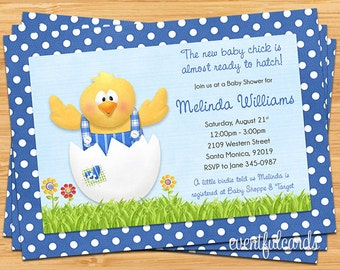 Little Chick Baby Shower Invitation