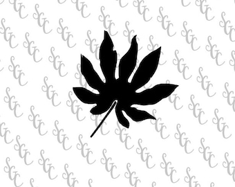 Reusable Stencil - Botanical Leaf Silhouette - Many Sizes to Choose from!