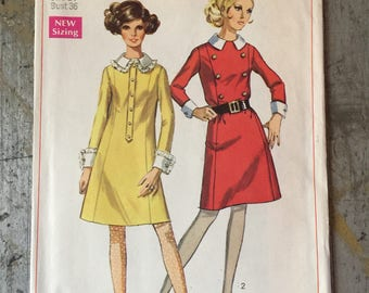 Vintage Simplicity Sewing Pattern 7896 Misses' Dress Size 14
