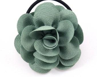 Camellia - green bracelet or hair elastic