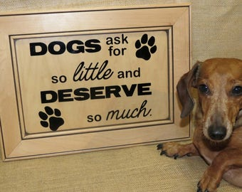 Dog Home Decor Sign, Dog Sign For Home, Dog Home Sign, Dog Gift
