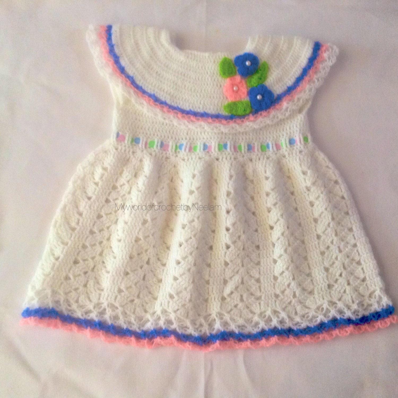 Little Girl Ruffle Affair Dress Baby girl Crochet dress
