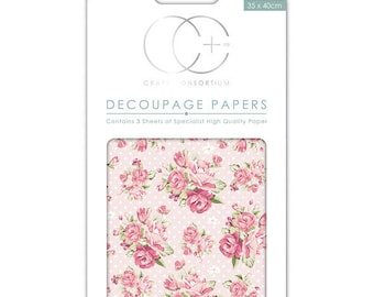 Paper (3 sheets) pink Polka - CCDECP0125 patch