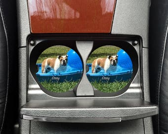 Dog Lover Gift, Pet Lover Gift, Car Coasters, Car Accessories, Photo Coasters, Car Cup Holder, Cat Car Coasters, Custom Car Coasters
