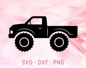 Monster Truck SVG DXF PNG, Truck Clipart, Jeep Pickup, Vintage Truck Svg Files For Cricut,Template Digital Download, American Truck Cut File