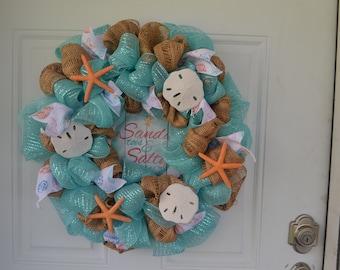 Sandy Toes & Salty Kisses Wreath