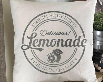 Lemonade, Lemon, Pillow Cover, Farmhouse Style