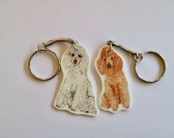 Toy Poodle Keyring
