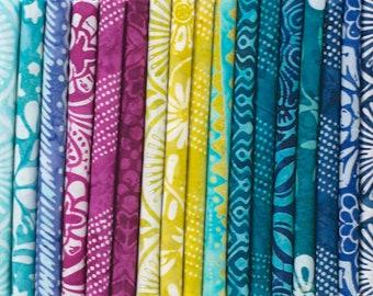 Longitude Batiks - Fat Eighth Bundle by Kate Spain for Moda Fabrics - 20 pieces
