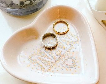 Nan Heart Shaped Trinket Ring Dish Jewellery Holder Mother's Day Grandma Word Keepsake Small Gift