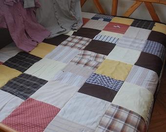 Autumn Plaid Patchwork Blanket