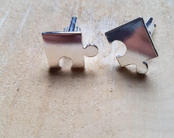 Jigsaw Cufflinks Puzzle Cufflinks Groom Gift Bestman Gift Wedding Gift Graduation Gift Boyfriend Gift Fathers Day gift
