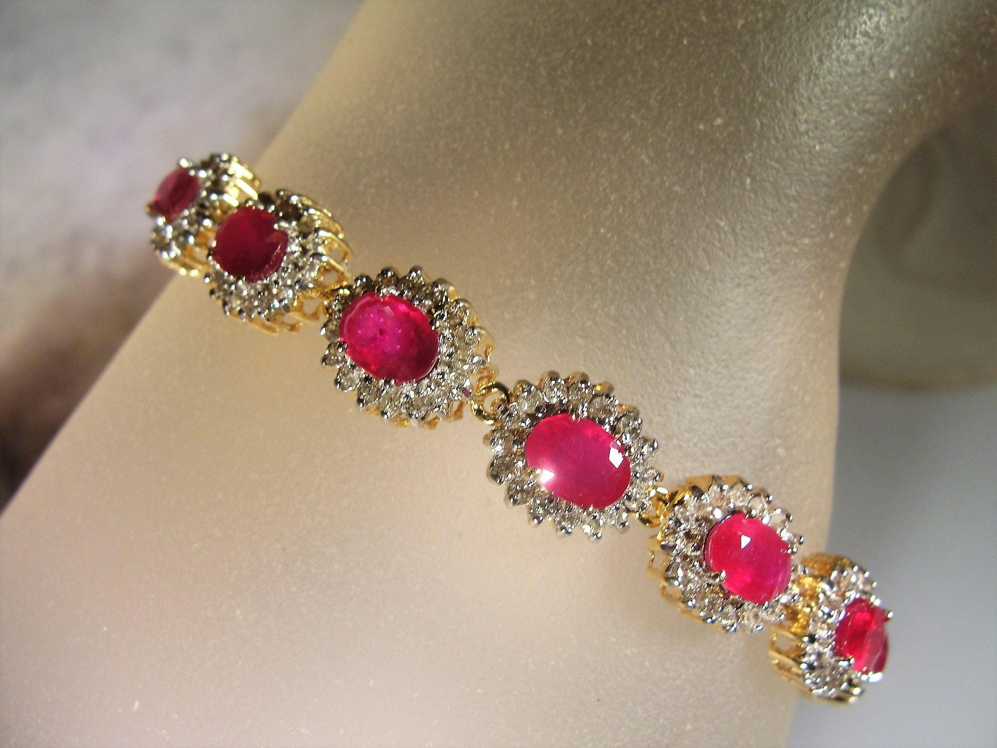 white topaz jewelry bracelet bracelets and ruby gold oval diamond pink