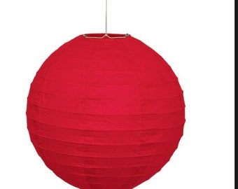 One Red 8 inch Paper Lantern WHOLESALE PRICE