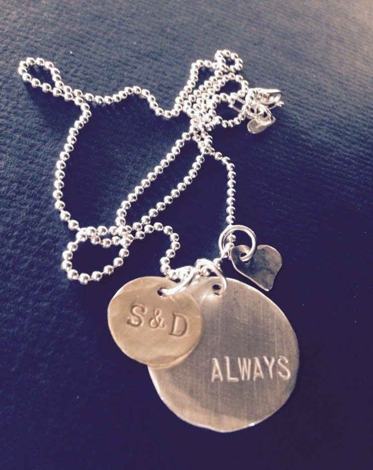 Always hand stamped in this sterling silver custom hand made pendant always hand stamped in this sterling silver custom hand made pendant define your love for another aloadofball Gallery