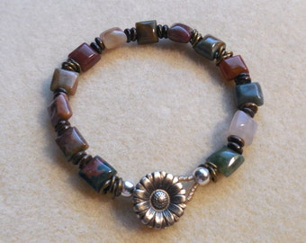 Jasper Beaded Bracelet