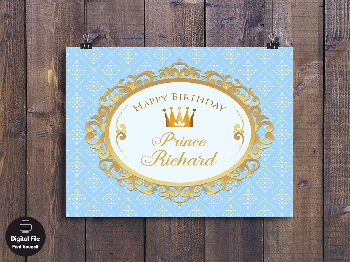 Prinz Hintergrund Geburtstag Party Dekoration