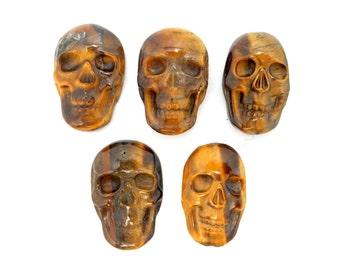 Skull Shaped Tigers Eye Cabochon - (RK78B17-06)