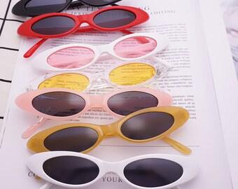 Micro 90s Retro Oval Sunglasses