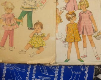 Simplicity vintage toddlers pattern, Simplicity children's Pattern, simplicity 9090, Simplicity 7991