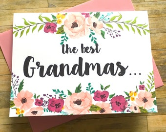 Pregnancy Announcement Card - Pregnancy Reveal to Grandma - New Great Grandma Baby Announcement - Having a Baby - I'm Pregnant - MULBERRY