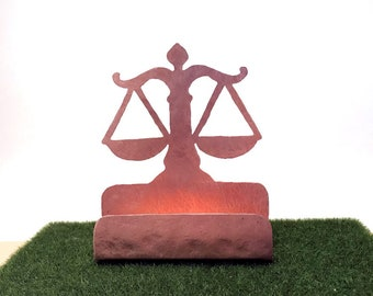 Attorneys Business Card Holder Copper Desk Accessory lawyers Attorney gifts for lawyers paralegal gifts for lawyers