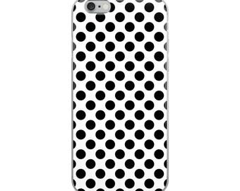Black Polka Dots iPhone Case