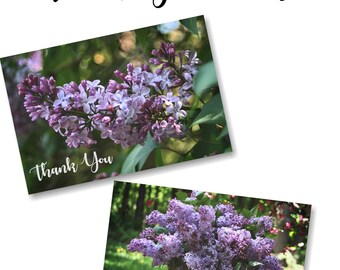Lilac Themed Thank You Cards | Instant Download