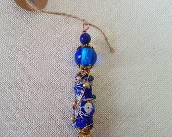 Handmade boho fabric beads