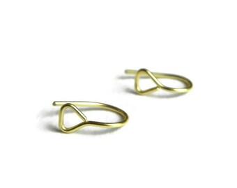geometric hoop earrings, triangle U hoops, tiny modern hoop earrings, modern threader hoops