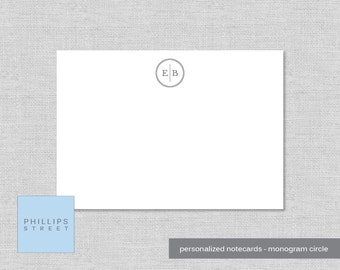 personalized note cards - monogram - newlyweds - personalized stationery - monogram stationery - stationary - wee notes - SET OF 10