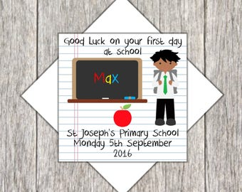 Starting School Card ~ First Day of School Card ~ School Good Luck Card ~ Personalised Starting School Card ~ Good Luck at School Card