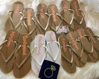 Bridesmaid flip flop | Etsy