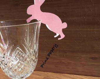 Pink Bunny Rabbit Place Cards Decor 10